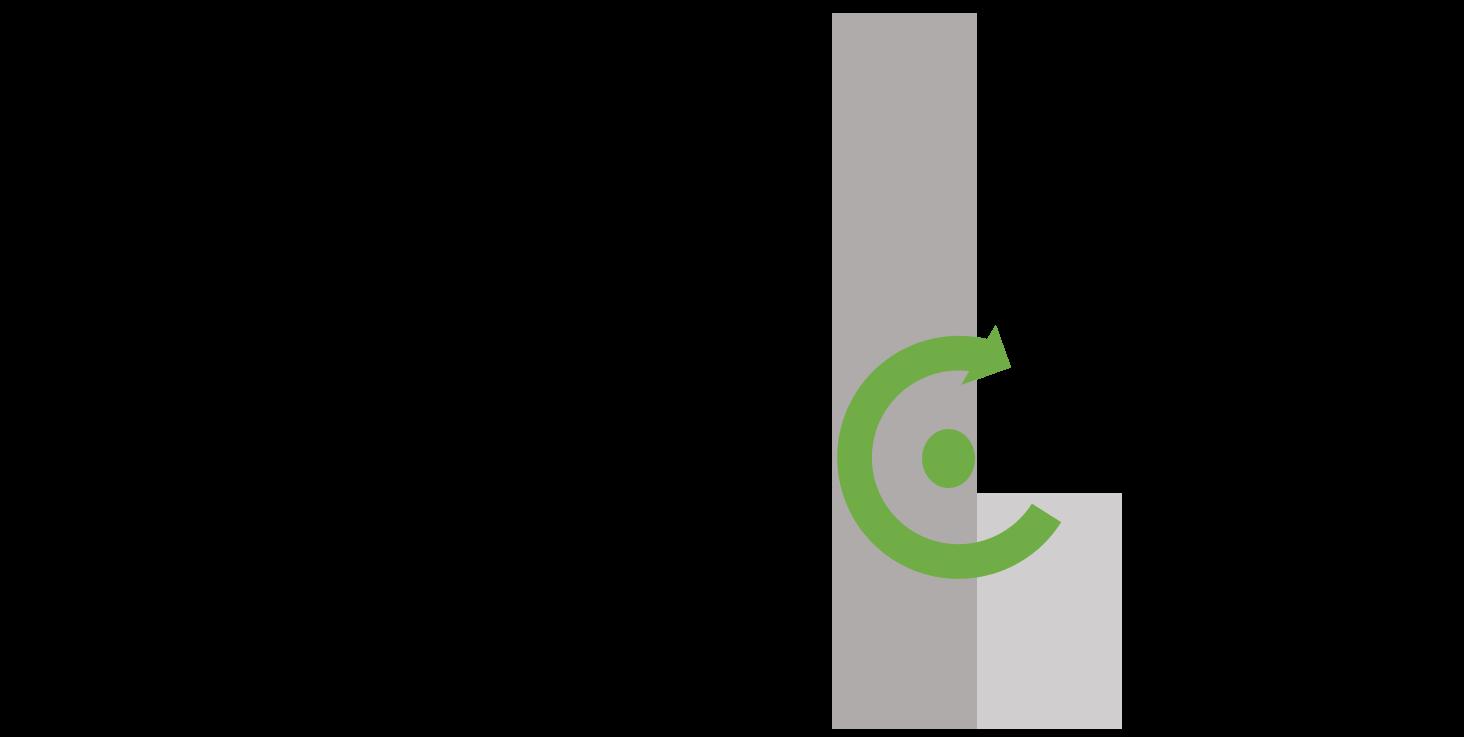 schema illustration centre de gravite