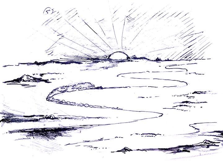 illustration moto aerodynamique penetration dans l'air jean charles barbe