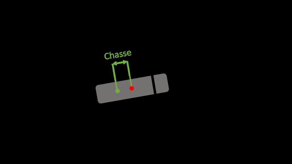 schema chasse moto electrique vue de haut
