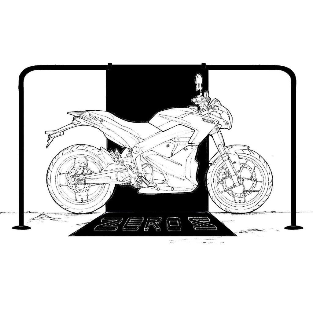 dessin zero s zero motorcycles © jean charles barbe