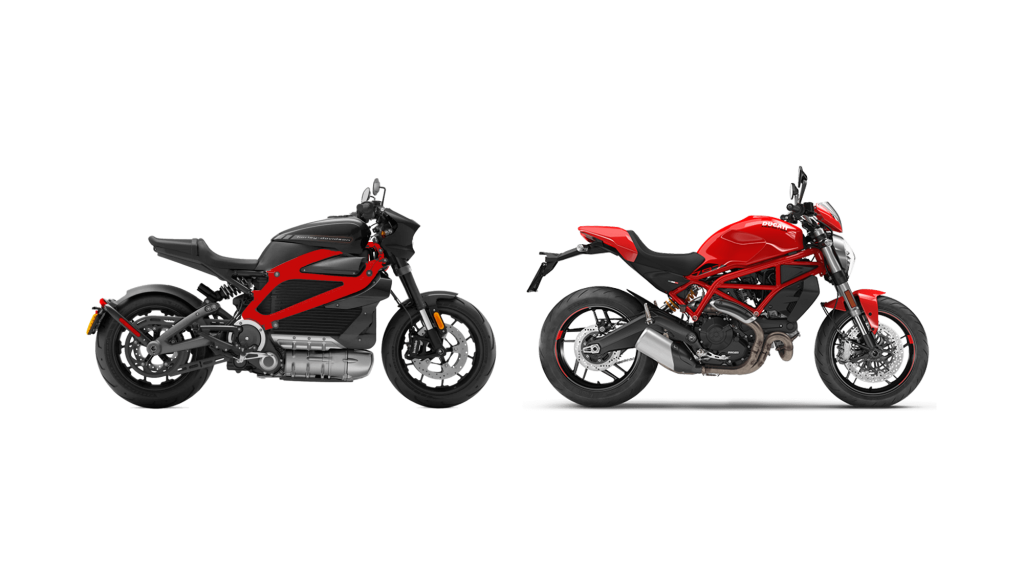 Monster 797 Ducati Livewire Harley comparaison